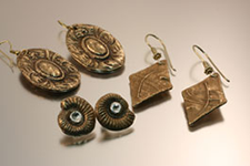 Bronze Metal Clay Earrings